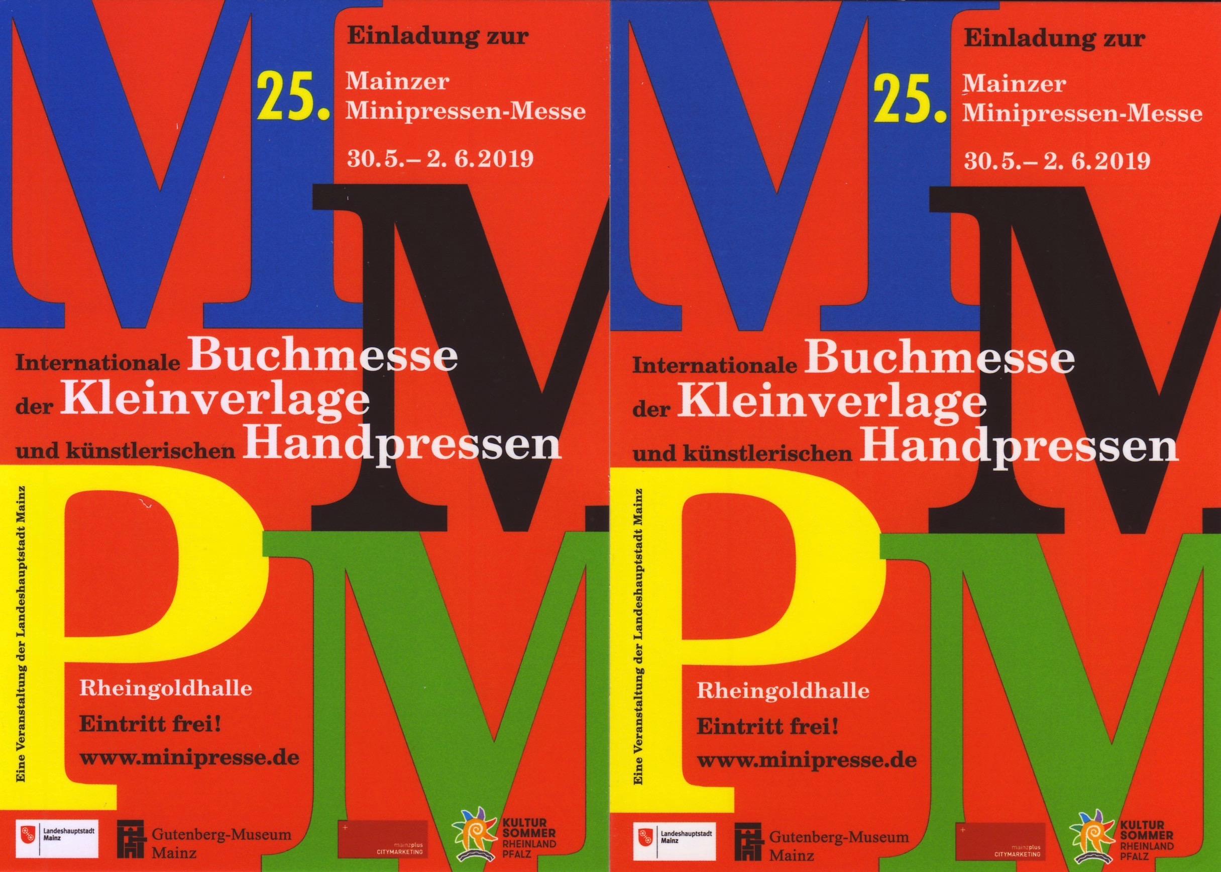 25. Mainzer Minipressen-Messe