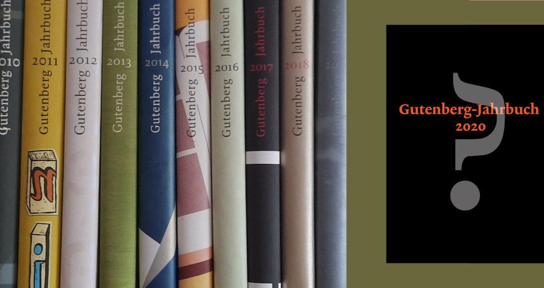 Übergabe des Gutenberg-Jahrbuchs 2020