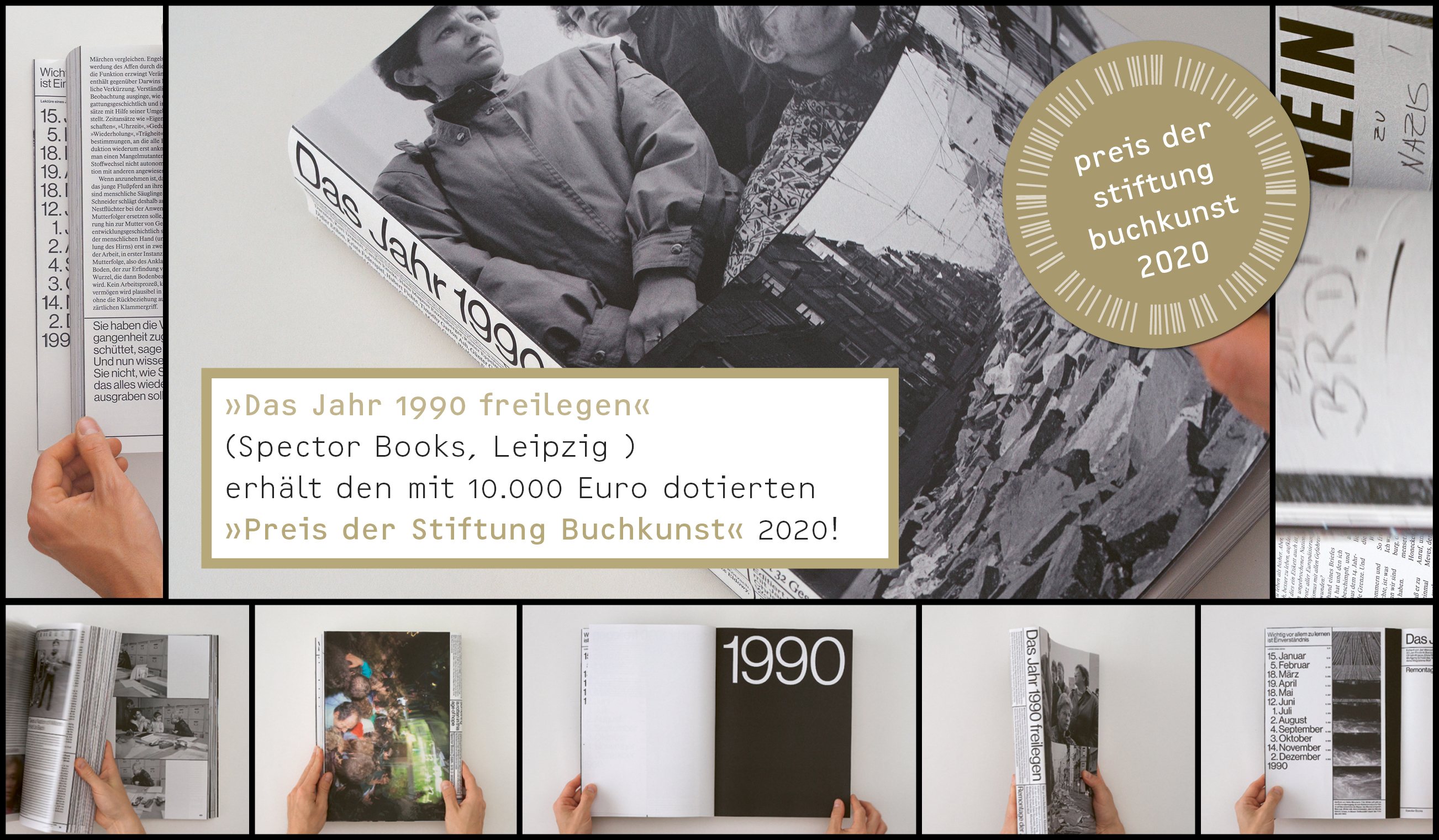 Preis der Stiftung Buchkunst für «Das Jahr 1990 freilegen»