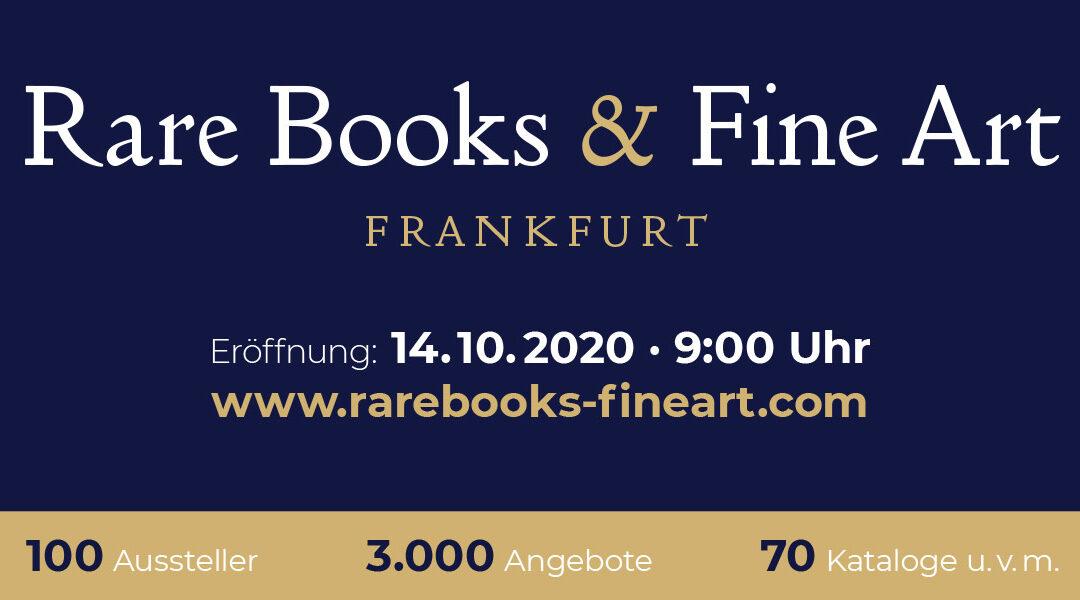Rare Books & Fine Art – die virtuelle Antiquariatsmesse