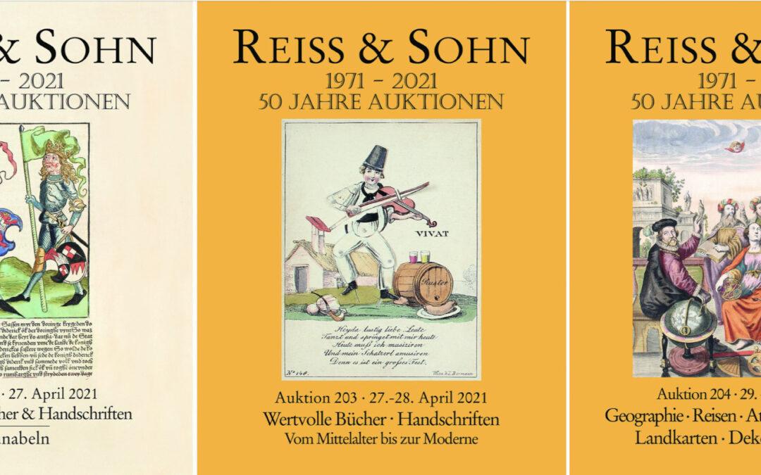 50 Jahre Reiss & Sohn – Raritäten zum Jubiläum